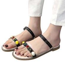 b9991898c22 Nouvelle mode bohême chaussures tongs été femme gladiateur sandales femmes  Floral romain à bretelles plate-