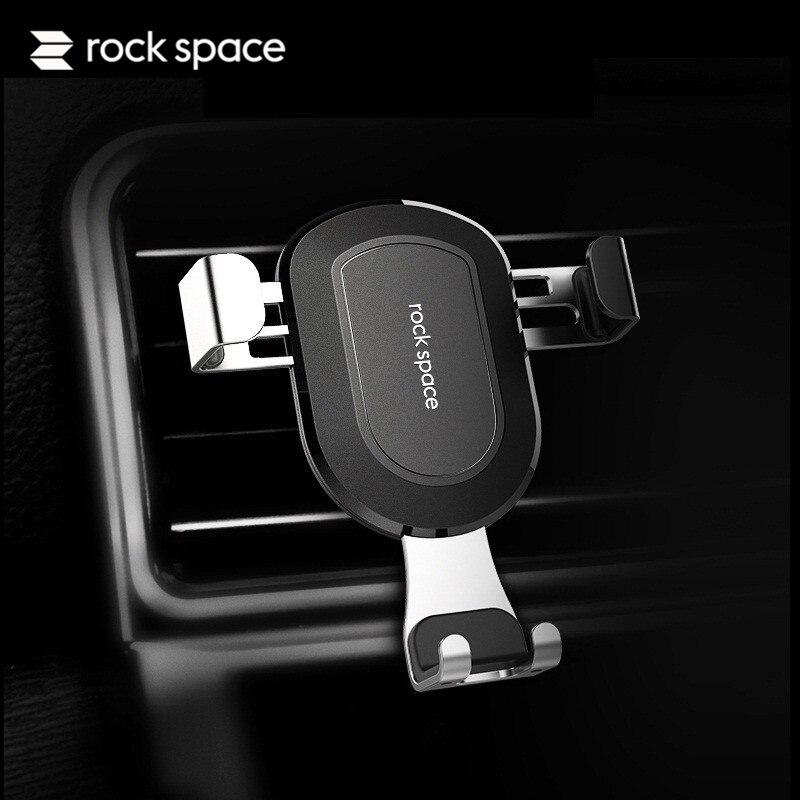ROCKSPACE Aluminum Car Holder Gravity Air Vent Mount Luxury Car Phone Holders for iPhone 7Plus 360