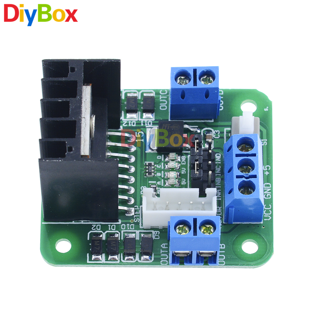New Green Board L298n Dual H Bridge Dc Step Motor Drive Controller Diagram Together With L298 Circuit Pin On Module In From Home Improvement