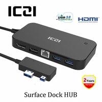 ICZI Surface Dock Hub With HDMI DisplayPort Ethernet Lan Port USB 2 0 3 0 Ports