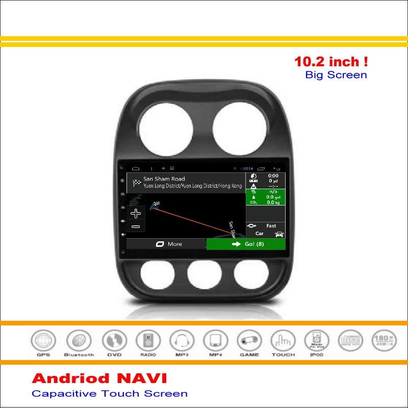 Coche Android Sistema de Navegación GPS de NAVEGACIÓN NAVI Para Jeep Compass/Pat