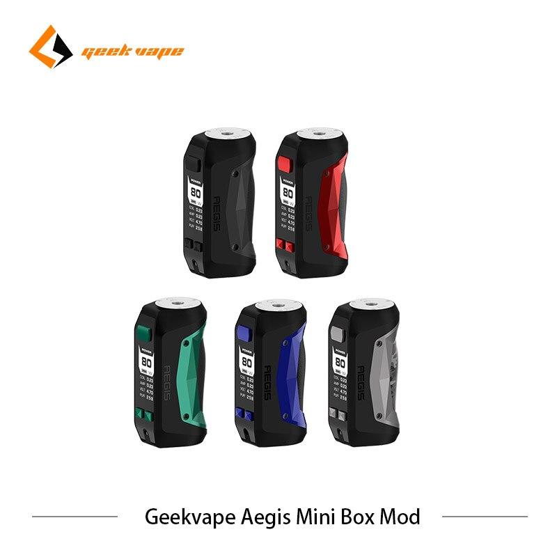 2pcs lot Geekvape Aegis mini Mod 2200mAh Electronic cigarette 80W Box MOD Vape Fit Geekvape Cerberus