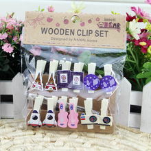 60Pcs/Lot DIY Cartoon shape clip Wooden peg clips photo memo Paper scrapbooking party home decoration craft emoticon pegs 10pcs lot creative original eco home decoration wooden clip photo paper craft clips party decoration clips