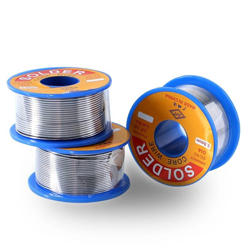 Solder Draht 0,8mm/1,0mm/1,2mm Dia No-Clean 60/40 Kolophonium Kern Zinn Schweißen Niedrigen schmelzpunkt Schnelle Löten Reparatur Werkzeug 1