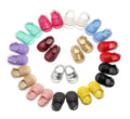 2017 New Fashion Summer Pu Leather Tassel Hook & Loop Baby Girls Princess First Walker Shine Golden Baby Girls Shoes Sandals