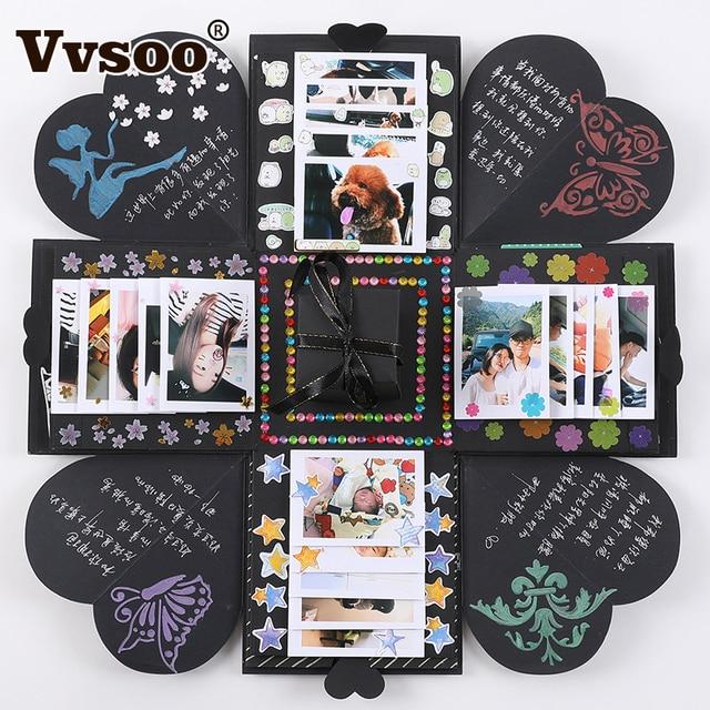 Vvsoo Nuova Esplosione Sorpresa Box Scrapbook FAI DA TE Album di