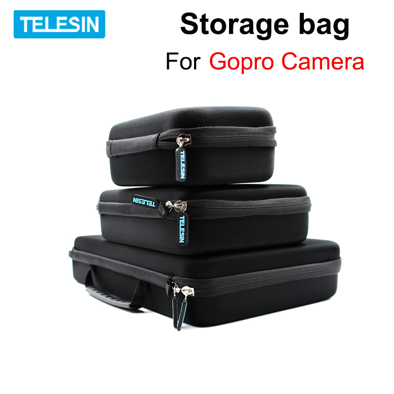 TELESIN Protective Storage bag EVA box Carry Case for Gopro Hero <font><b>7</b></font> 6 5 <font><b>4</b></font> Xiaomi YI 4k SJCAM SJ4000 <font><b>5000</b></font> EKEN handbags camera Bag image