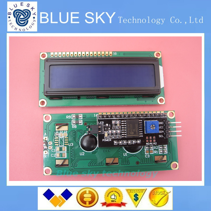 Free shipping 5pcs lot font b LCD b font module Blue screen IIC I2C 1602 font