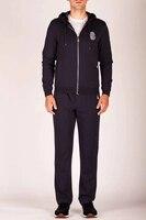 TACE & SHARK миллиардер Костюм спортивный комплект для мужчин 2018 новый стиль комфорт повседневное Вышивка Узор высокое ткань джентльмен