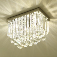Stainless Steel Led Ceiling Lights Plafonnier Led Crystal Lamp Lampara Iluminacion For Dinning Room Suspension Lustre