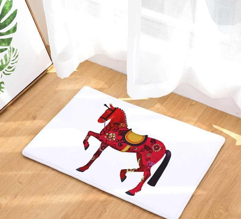 CAMMITEVER средневековье боевой конь Творческая Европа Тип Коврик для прихожей коврик против скольжения Ванная комната ковер поглощать воду Кухня коврик