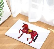 Cammitever Middeleeuwen Oorlog Paard Creatieve Europa Type Tapijt Hal Deurmat Anti Slip Badkamer Tapijt Water Absorberen Keuken Mat