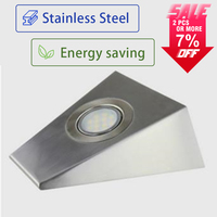 New Design Elegant LED Stainless Steel Triangle Shape Glass Cover Under Cabinet Led Kitchen Decoration Light