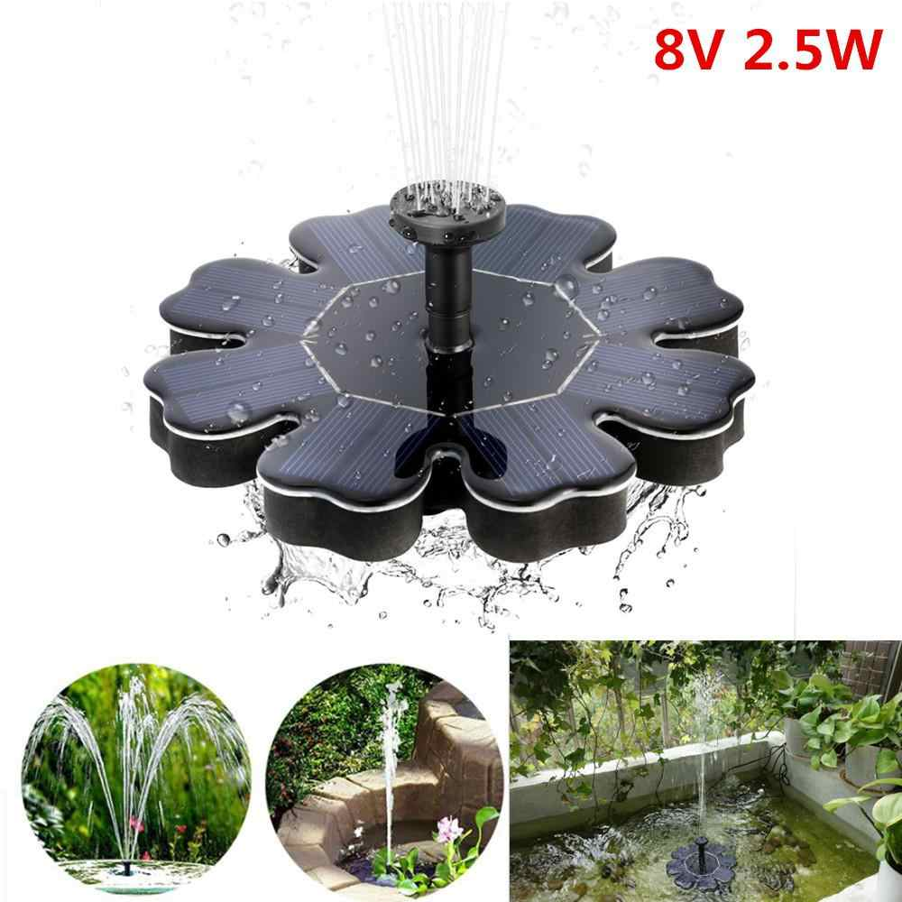 Bloemvorm Waterpomp 2.5W Solar Fontein Zwembad Vijver Vogel Bad Outdoor Tuin Decor Floating Solar Fontein Fontaine De jardin