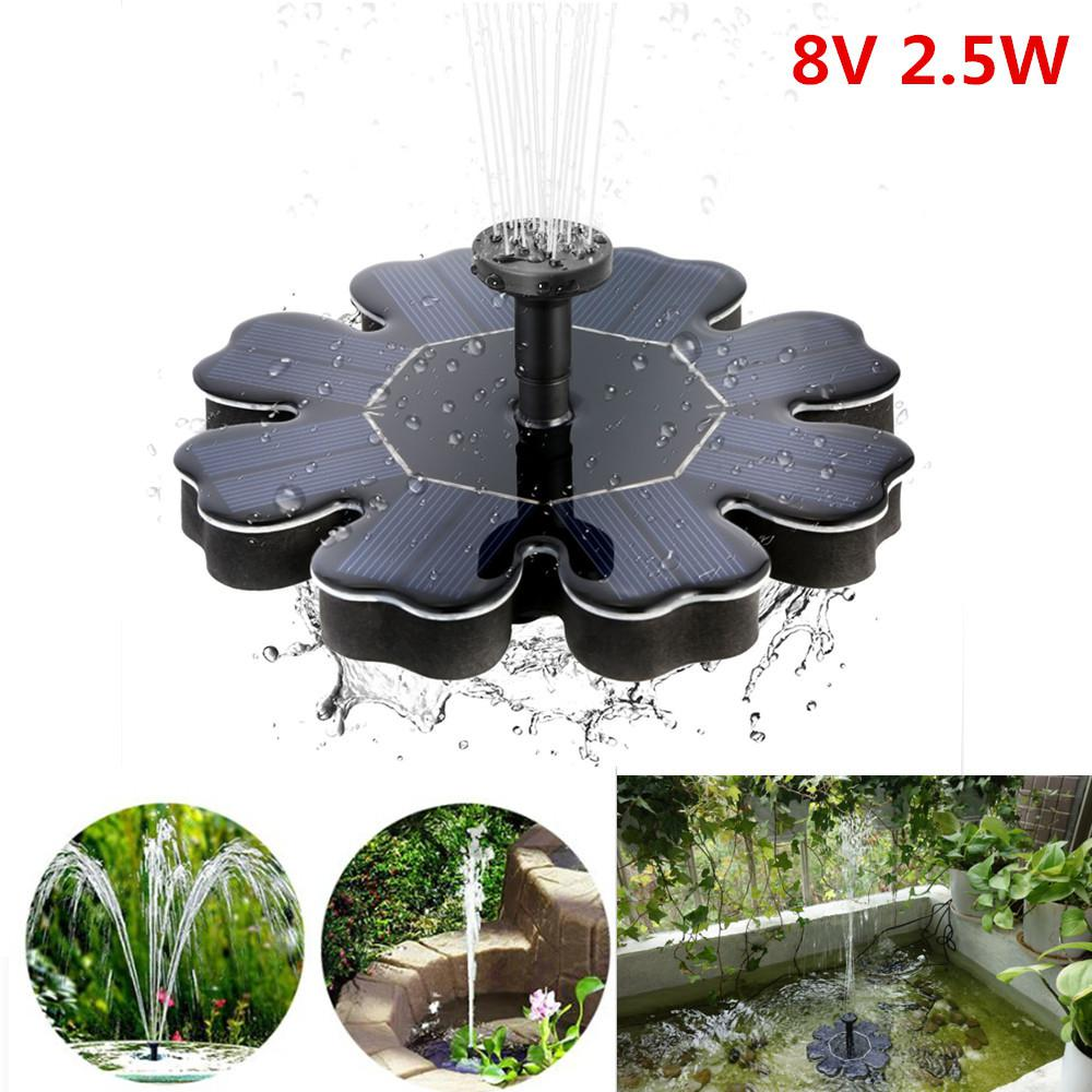 Flower Shape Water Pump 2.5W Solar Fountain Pool Pond Bird Bath Outdoor Garden Decor Floating Solar Fountain fontaine de jardinFlower Shape Water Pump 2.5W Solar Fountain Pool Pond Bird Bath Outdoor Garden Decor Floating Solar Fountain fontaine de jardin