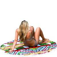 Happy Sales Factory Price Summer Round Hippie Tapestry Beach Throw Roundie Mandala Towel Yoga Bohemian Polyester Mat Aug22