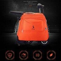 Микро скутер скейтборд прокатки багажа модная тележка бизнес каюта чемодан 2 колеса путешествия Ховерборд Мужская сумка ручной клади