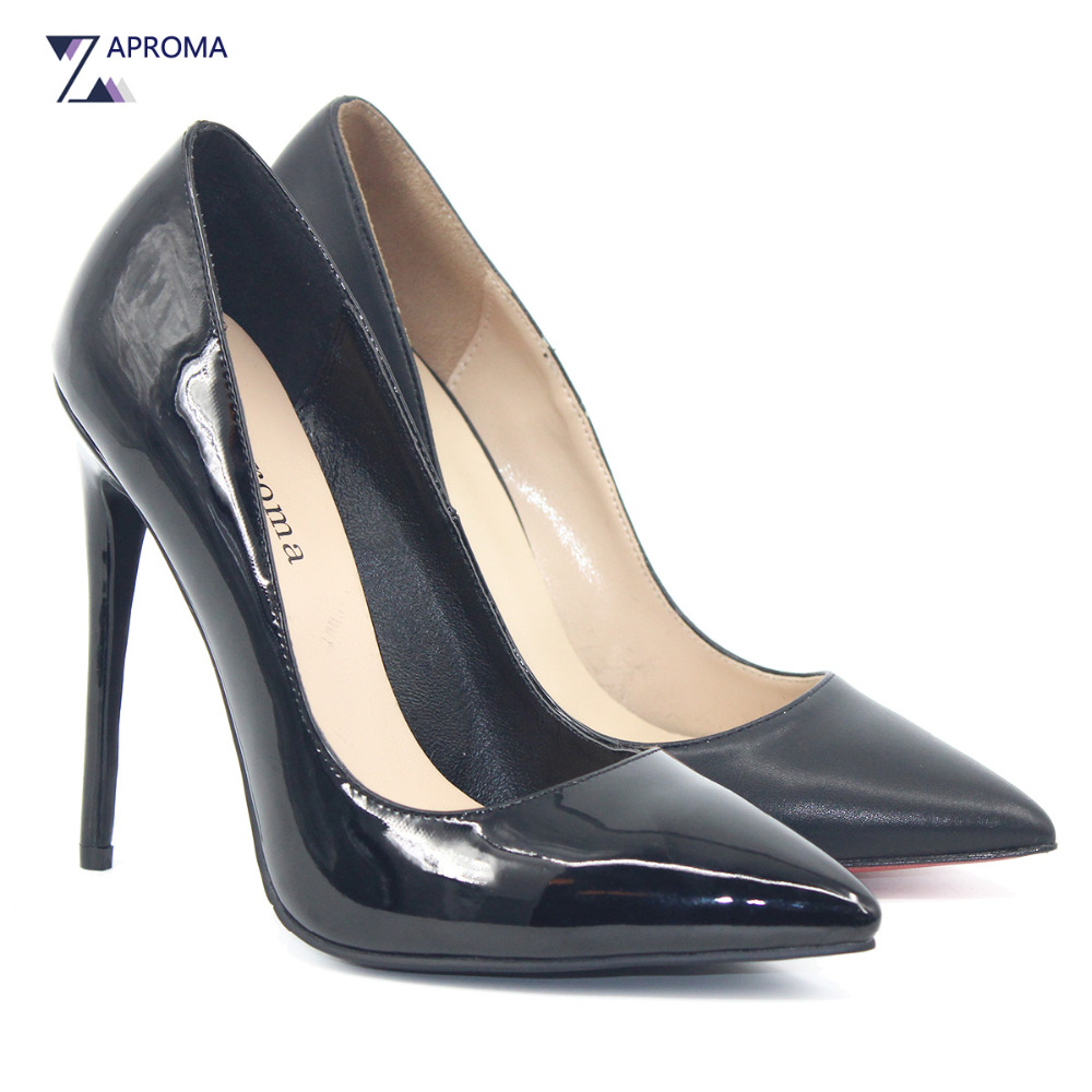 Classic Black Women Pointed Toe Super High Heel Pumps Bow Handmade Slip On Thin Heel Shoes Dress Brand Spring Autumn Stiletto women genuine leather slip on pointed toe lazy shoes sweet bow knot shallow party spring autumn women pumps black pink