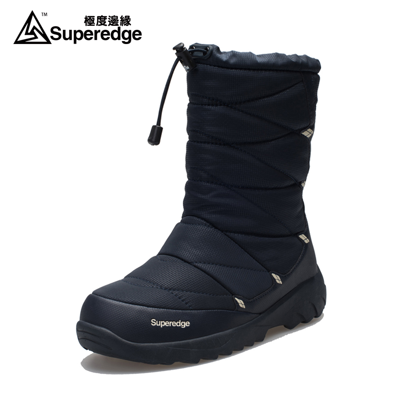 SUPEREDGE Men's Women's Warm 3M Thinsulate Winter Boots Waterproof Shoes Snow Wools Skiing 100% High Quality  Travel Outdoor
