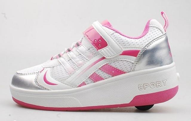 Fashion Sepatu Anak Roller Sepatu Roda Anak Perempuan Luar Bernapas Kasual Olahraga  Sepatu Sneakers Anak Perempuan 4b6497ea41