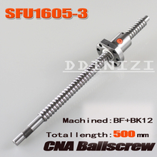 BallScrew SFU1605-3 SFU1605 500mm RM1605 500mm Rolled Ball screw 1pc+1pc ball nut for SFU1605