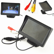 Universal 4.3 inch TFT LCD Car Monitor Car Reverse Parking monitor with LED backlight display for Rear view Camera DVD Hot-Sale(China (Mainland))