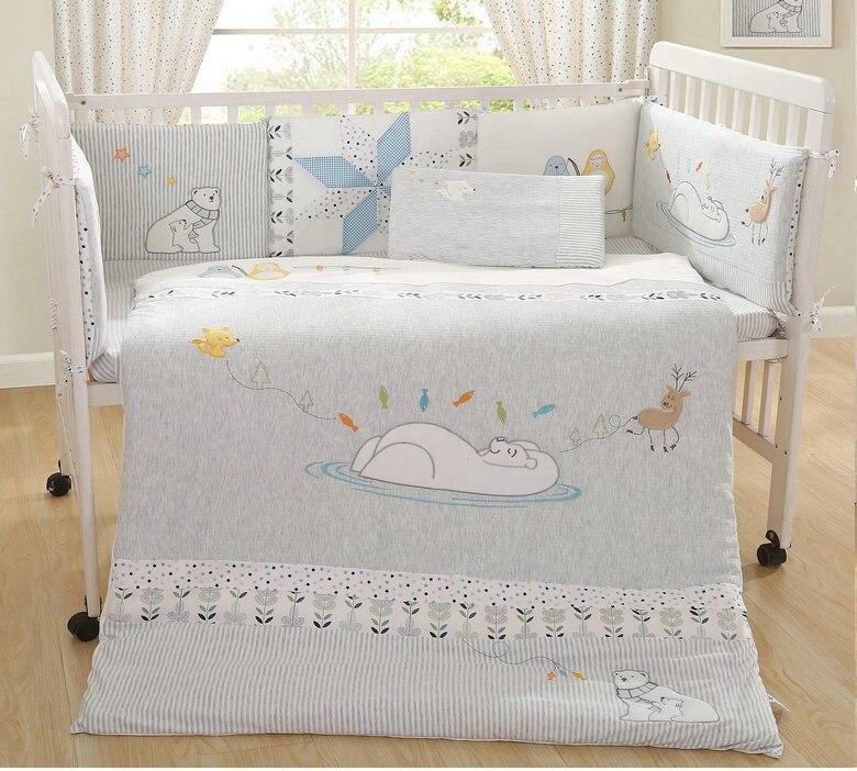 11 шт. комплекты натуральный oganic хлопок детское постельное белье качество комплект хлопок младенческой кроватки мягкое одеяло детские кров