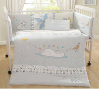 11 Pieces Sets Natural Oganic cotton baby bedding quality kit cotton infant cot soft quilt kids crib bumpers