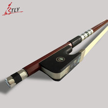 TONGLING High Grade Cello Bow Exquisite Brazil Wood Ebony frog w/ Colored Shell Horse Hair Violincello Bow
