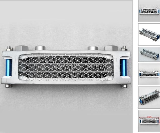 ФОТО 20.08x8cm Radiator Oil Cooler Aluminum For Honda-Suzuki-Yamaha-Kawasaki