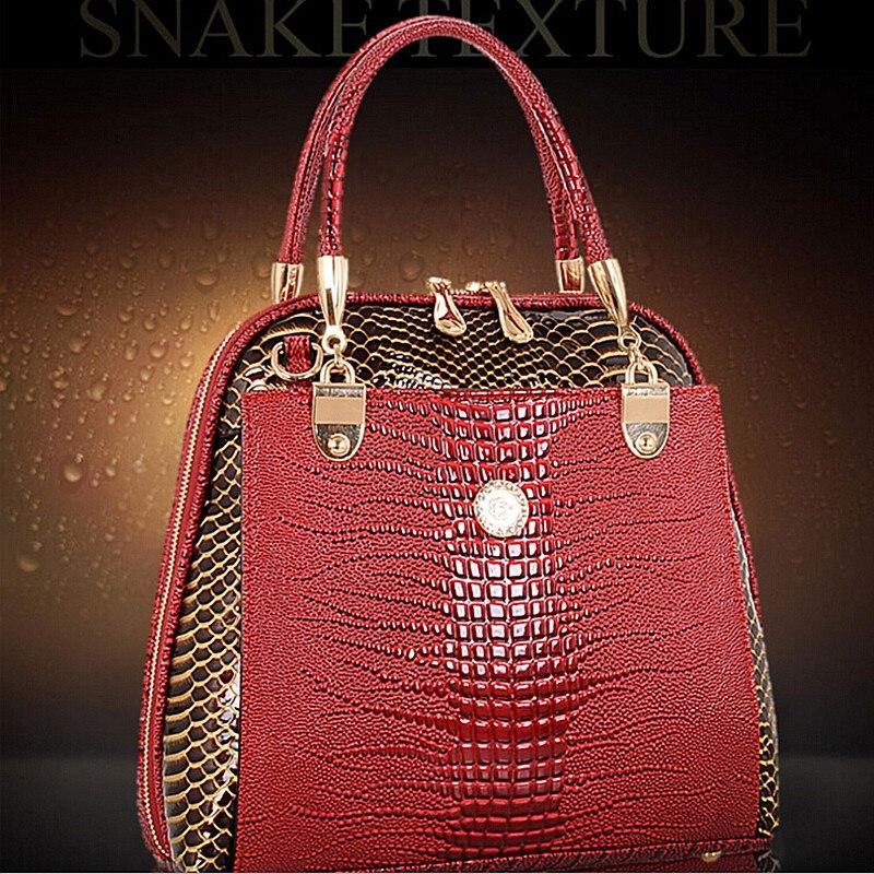 все цены на DAWABO Brand Women Shell Bag Patent Leather Bag Female Serpentine Pattern Tote Shoulder Bags Luxury Handbags Crossbody Bags онлайн