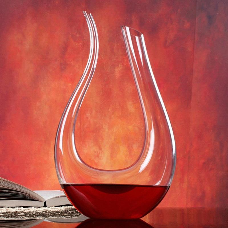 Lemeya 1500 ML Gran Decantador Hecho A Mano de Cristal Vino Tinto Brandy Champán Gafas Botella Jarra Vertedor Para Bar Familiar Regalo de Cumpleaños