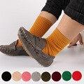 1-5 лет хлопок детские носки Осень и весна толстые махровые детские носки сплошной цвет носки для детей детские Противоскольжения носки