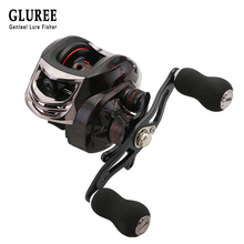 GLUREE Plastic Baitcasting Fishing Reel 13+1BB 6.3:1 220g Metal Line Cup Red Left/Right Hand Lure Fishing Fresh/Salt Water Reel