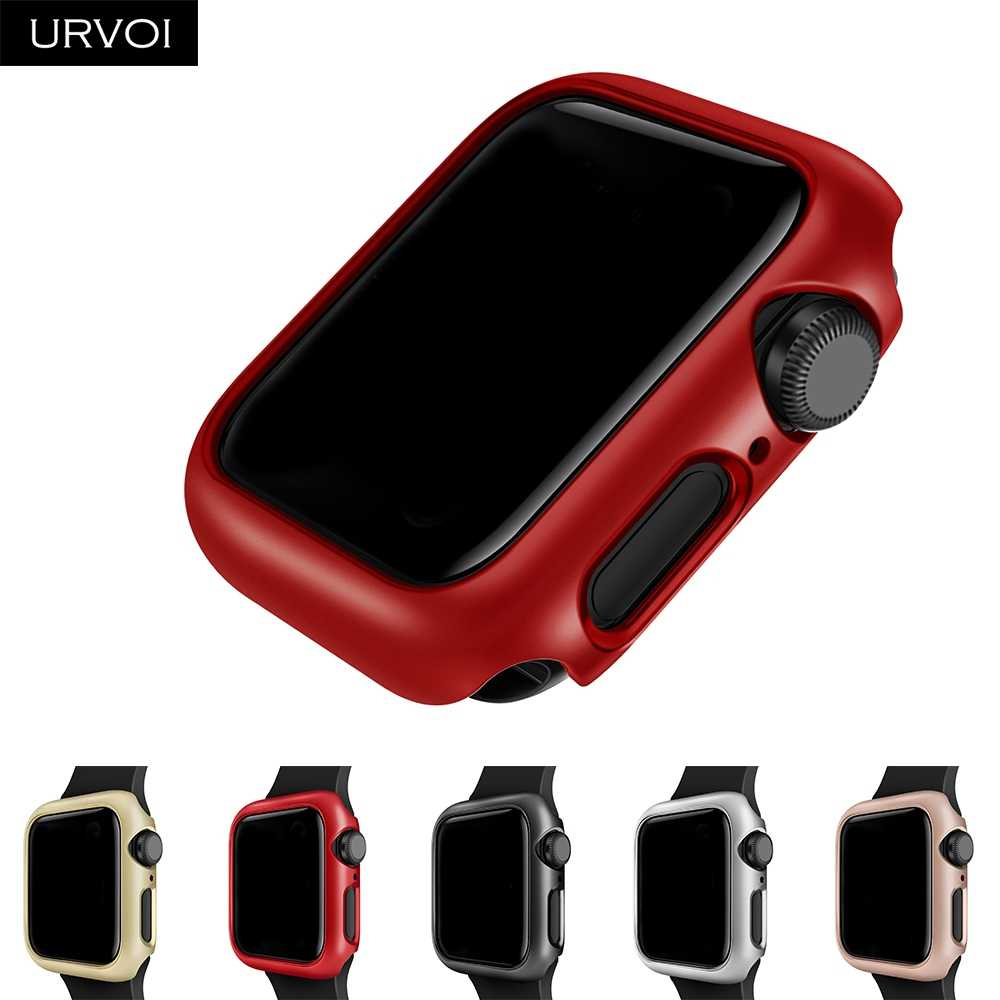 URVOI cover for apple watch series 5 4 3 2 case for iwatch 4 protector hard PC frame bumper slim Ultra-thin case band 40 44mm