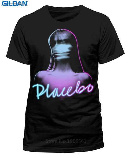 e06c7bc2c Plain T Shirts Crew Neck Men Short Sleeve Tall Placebo Ghost Girl T Shirt