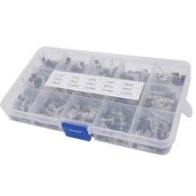 15 valor 600 pcs Bipolar Transistor TO-92 Box Kit 1015 1815 A733 C945 8050 8550 9012 9013 9014 9015 9018 3904 3906 5401 5551