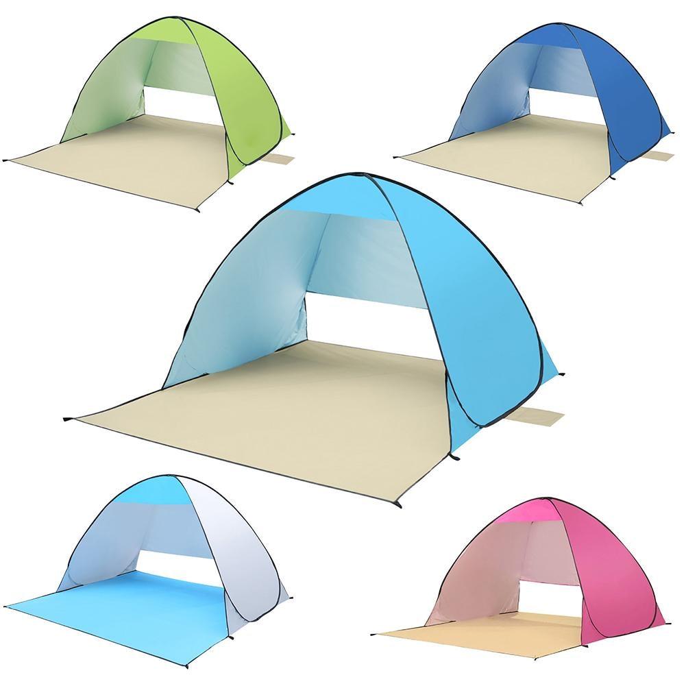 Chaude Pop Up Ouvert BeachCamping Tente De Pêche Randonnée En Plein Air Automatique Instantanée Portable 180*150*110 cm Anti UV abri Pour 2 Personne dans Abri du soleil de Sports et loisirs