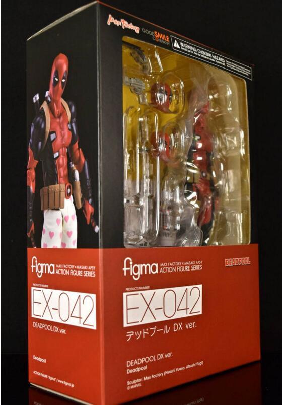 15cm X-MAN DeadPool Figma EX-042 Deadpool DX Ver Super Hero BJD Figure Toys