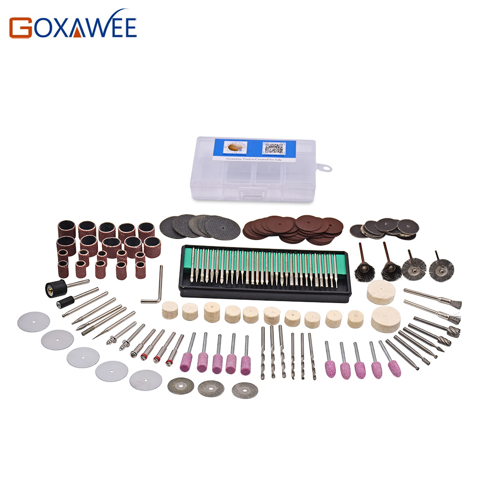 GOXAWEE 175Pcs Rotary Tool Accessories Set Fits Dremel Drill Grinding Polishing for Dremel Rotary Power Tool Accessories