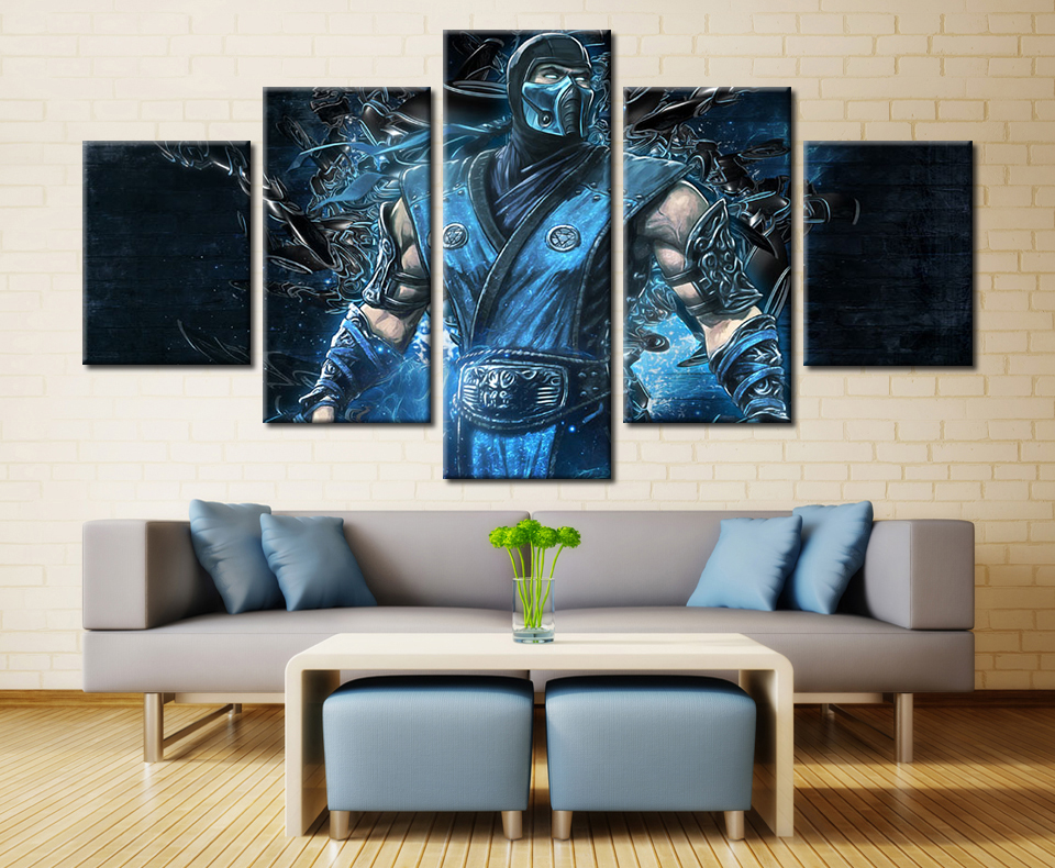 HD Printed Painting On Canvas 5 Panels Movie Character Poster Living Room  Customized Movie Canvas Wall
