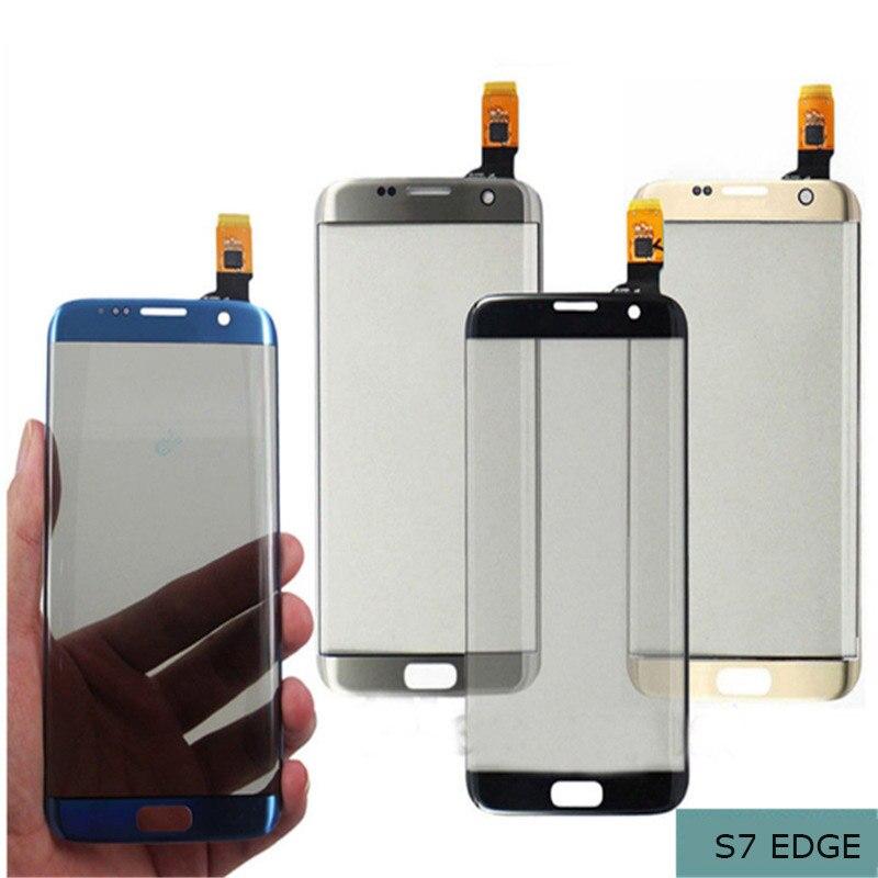 AAA Qualité G9350 Avant Lentille En Verre Pour Samsung Galaxy S7 Bord LCD Avant D'affichage Tactile Tactile Extra-Atmosphérique Panneau Écran En Verre remplacement