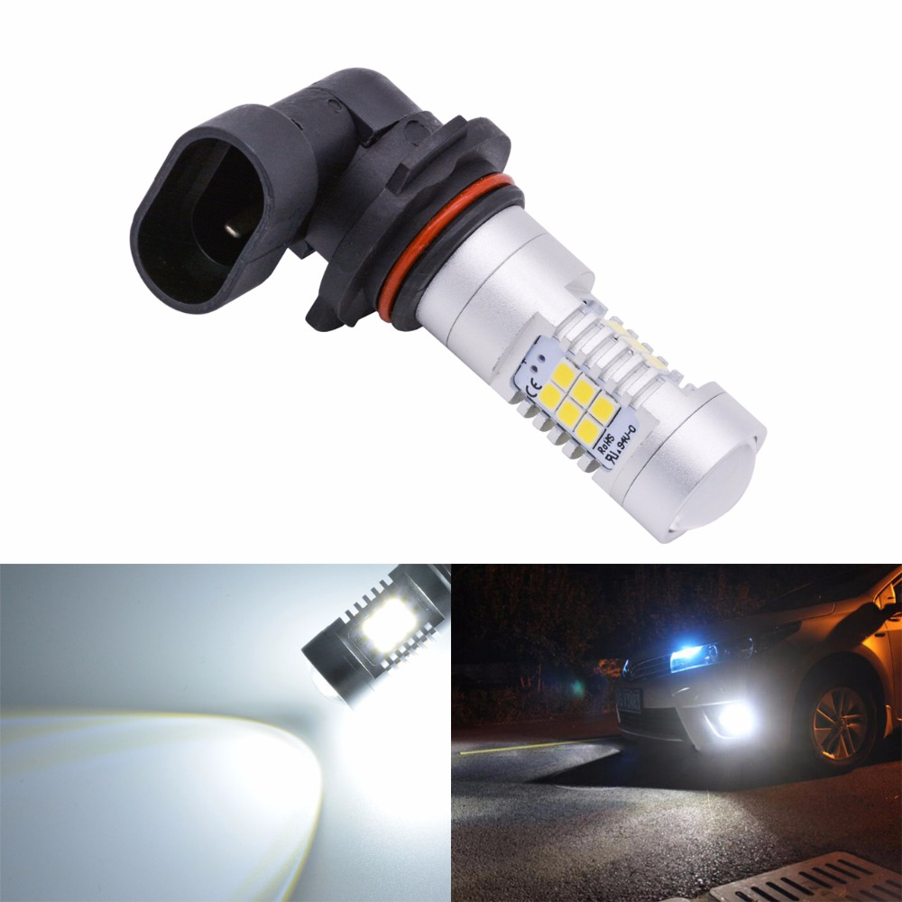 1pcs 9006 HB4 Fog Light 6500K Xenon White 1800Lm Super Bright Led Bulbs For Car DRL Lamp with Canbus Decoder Error Free 1pcs car led dc12v h8 fog lamp bright led light bulbs drl 33 5630 smd with lens xenon white ice blue yellow 2z9