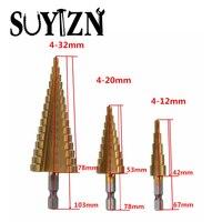 HSS Step Drill Bit Set Titanium Drill Bit Set Drill Hole 4 32mm 4 20mm 4