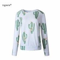TQNFS 2017 Fashion Print T Shirt Women Long Sleeve Casual Women T Shirt O Neck Women