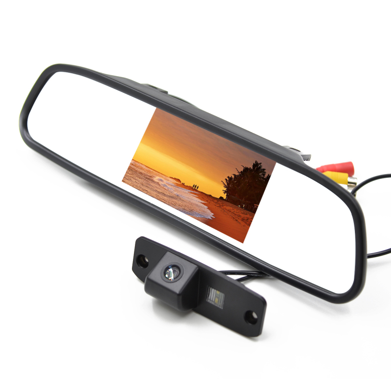 4.3'' Car Rear View Camera Monitor Backup Reverse Camera For Hyundai Elantra Accent Veracruz Ix55 Tucson Sonata Mirror Monitor