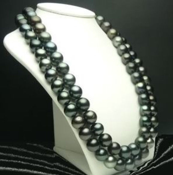9-10mm Black Tahitian Cultured Pearl Necklace 509-10mm Black Tahitian Cultured Pearl Necklace 50
