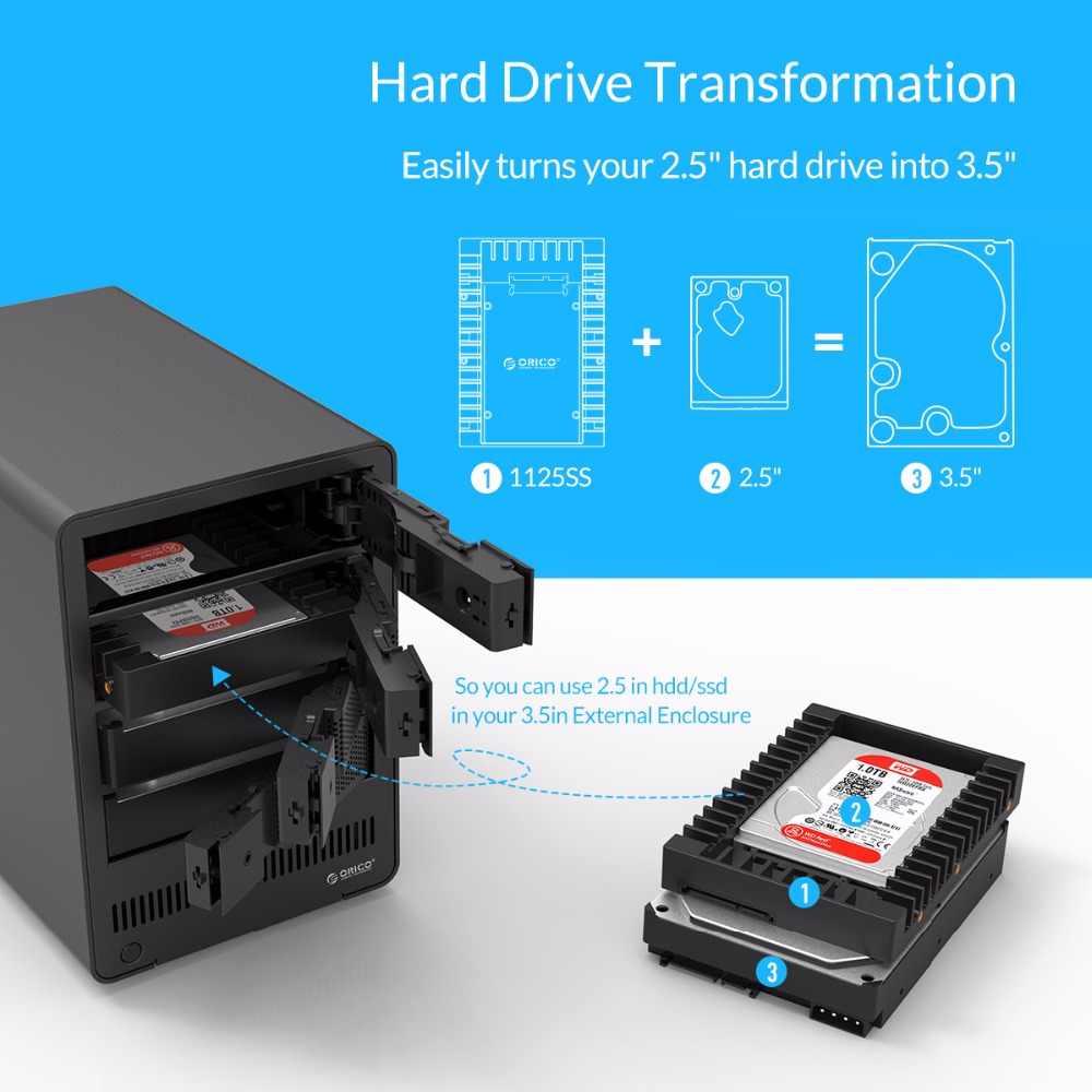 ORICO 2.5-3.5 inch Hard Drive Caddy Hỗ Trợ SATA 3.0 6 Gbps Tốc Độ Truyền Nhanh Không Bao Gồm Ổ Cứng