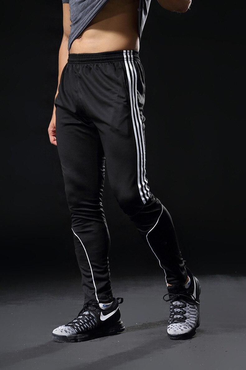 2019 Hot Sale Sports Pants For Men Fitness Gym Football Leggings Thin Running Soccer Training Long Pants Futbol Trouser White