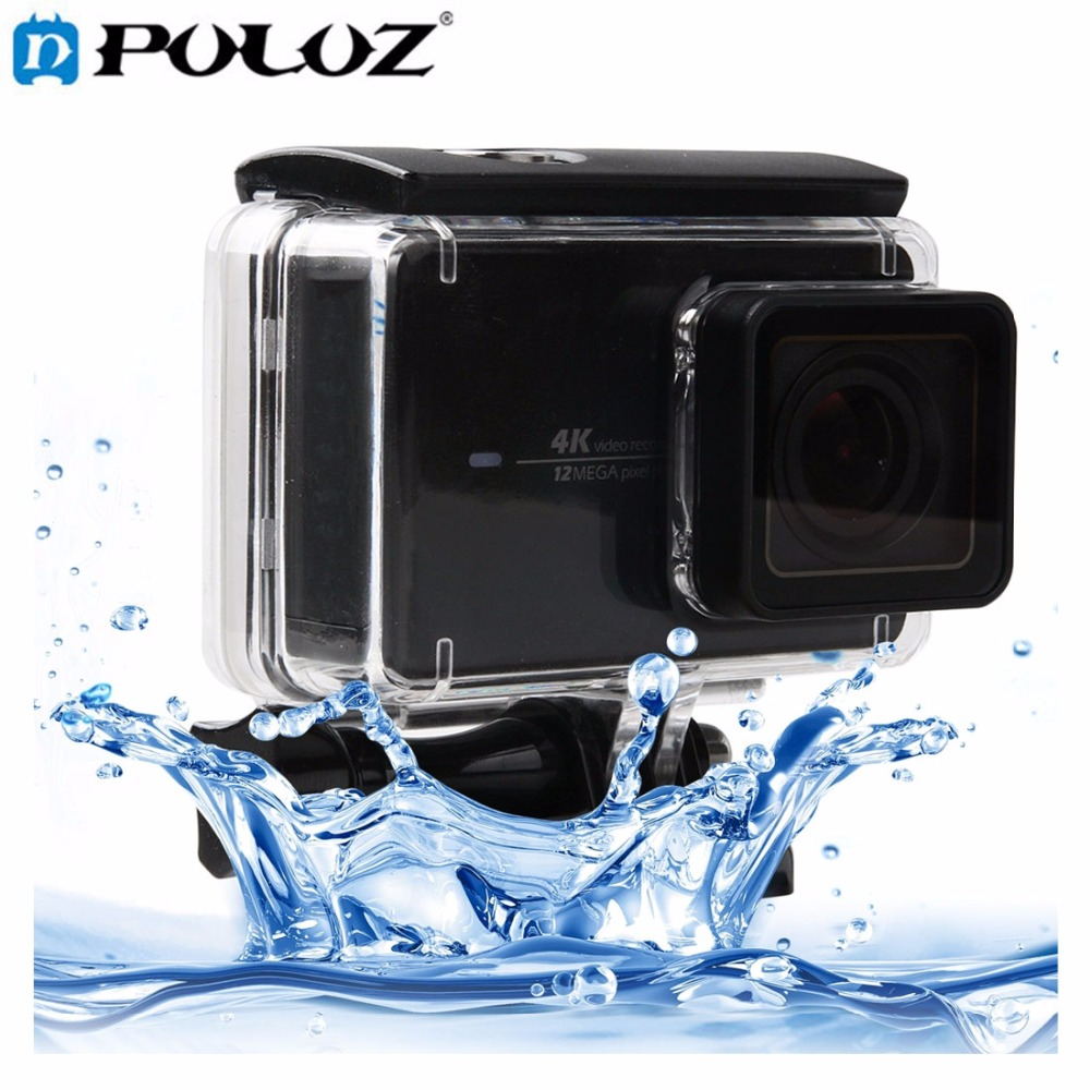 Touch Screen Waterproof Housing Protective Case with Buckle Basic Mount Screw for Xiaomi yi II 4K